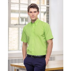 K100 Men´s Workforce Poplin Shirt Short Sleeve bedrucken