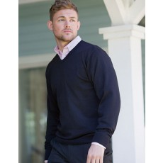 V-Neck Knitted Pullover Z710
