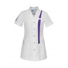 Taillierter Damenkasack mit V-Ausschnitt_4301326_LARA-0400_1-Weiß