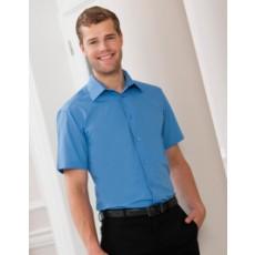 Z925 Kurzärmeliges  Corporate Popeline Hemd besticken