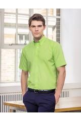 K100 Men´s Workforce Poplin Shirt Short Sleeve bedrucken